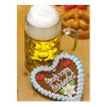 Cerveza bávara 2 tarjetas postales
