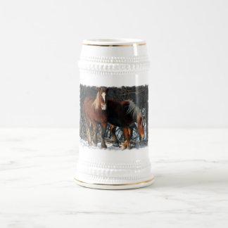 Cerveza belga Stein de los caballos de proyecto Tazas