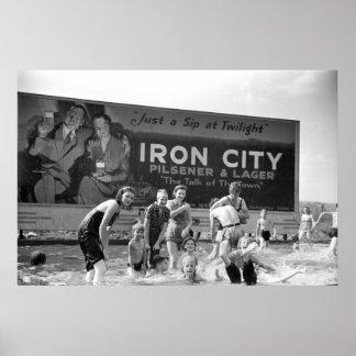 Cerveza Billboard, 1938 Póster
