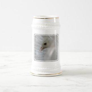 Cerveza blanca bonita Stein del pavo real Tazas De Café