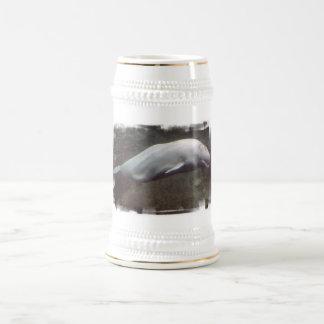 Cerveza blanca Stein de la ballena de la beluga Jarra De Cerveza