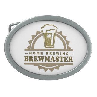Cerveza Brewmaster del Brew casero Hebilla De Cinturon Oval