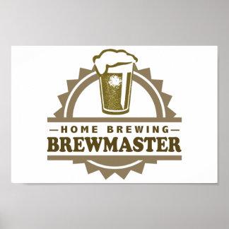 Cerveza Brewmaster del Brew casero Posters