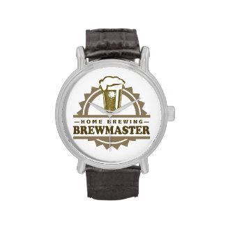 Cerveza Brewmaster del Brew casero Reloj De Mano