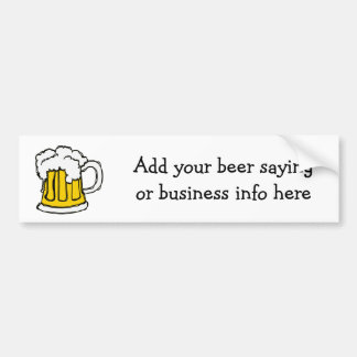 ¡Cerveza burbujeante!  U-brew o negocio de la cerv Pegatina De Parachoque