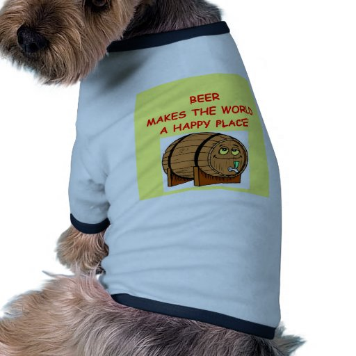 cerveza camiseta con mangas para perro