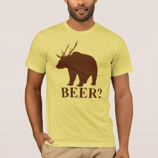 ¿CERVEZA? Camiseta del cazador de los ciervos de