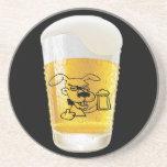 Cerveza cariñosa del perro posavaso para bebida