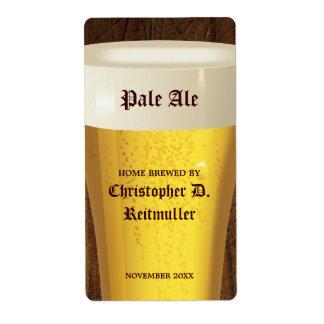 Cerveza casera de los cerveceros etiquetas de envío