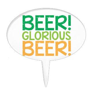 ¡Cerveza ¡Cerveza gloriosa Figura De Tarta