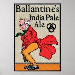Cerveza clara de Ballantine la India Posters