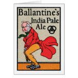 Cerveza clara de Ballantine la India Tarjeta De Felicitación