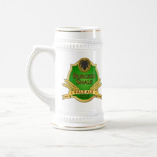 Cerveza clara de la pizarra del ciudadano tazas de café