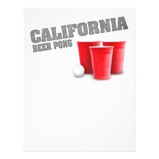 Cerveza clásica Pong de California Flyer A Todo Color