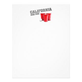 Cerveza clásica Pong de California Plantilla De Membrete
