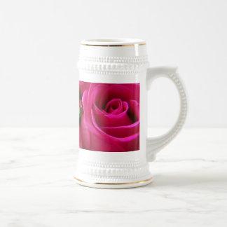Cerveza color de rosa rosada Stein Taza De Café