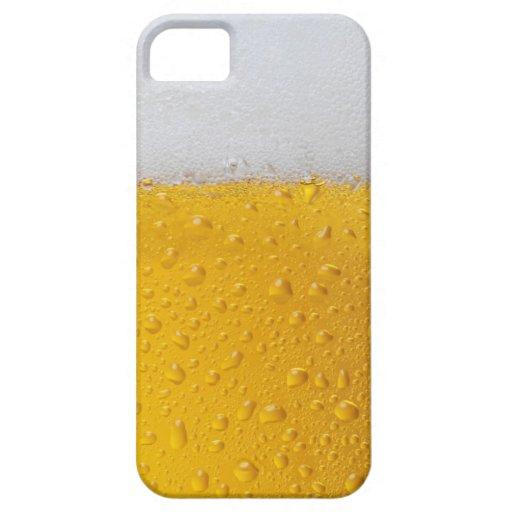 Cerveza con espuma iPhone 5 cárcasas