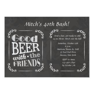 Cerveza con la invitación de los amigos
