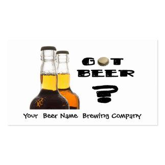 ¿Cerveza conseguida Compañía de elaboración de la Plantilla De Tarjeta Personal