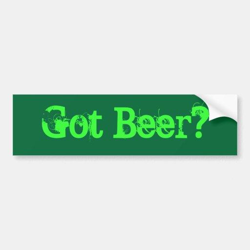 ¿Cerveza conseguida? Pegatina Para Auto