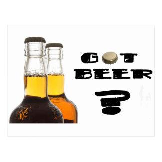 ¿Cerveza conseguida? Tarjeta Postal