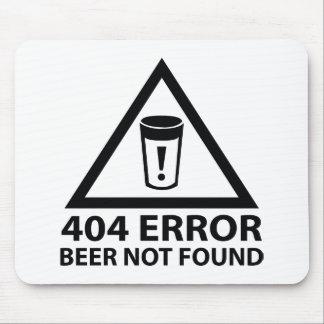 Cerveza de 404 errores no encontrada mouse pad