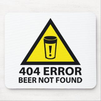 Cerveza de 404 errores no encontrada tapete de raton