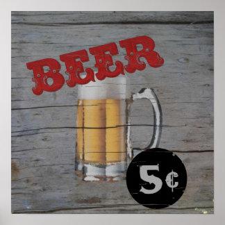 cerveza de 5 centavos impresiones
