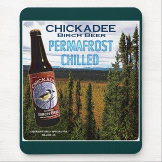 Cerveza de abedul del Chickadee Mouse Pads