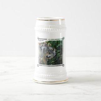 Cerveza de acecho Stein del lobo Jarra De Cerveza