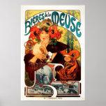 Cerveza de Alfonso Mucha del poster de la musa