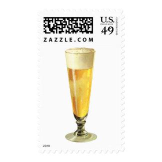Cerveza de barril escarchada alta del vintage, sellos