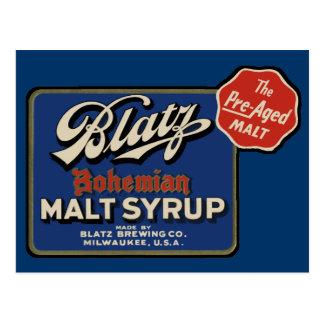 Cerveza de Blatz del vintage Tarjeta Postal
