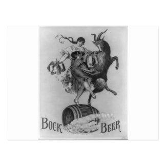 Cerveza de Bock 1883 Tarjeta Postal