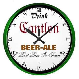 Cerveza de Cantlon Reloj Redondo Grande