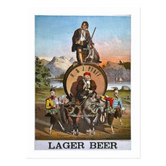 Cerveza de cerveza dorada de Pfaff - 1800s del Postal
