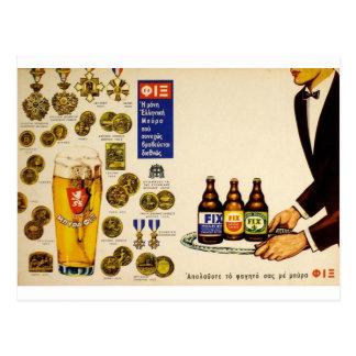Cerveza de cerveza dorada vieja del arreglo de Gre Tarjeta Postal