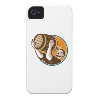 Cerveza de consumición de colada del barril del ba Case-Mate iPhone 4 coberturas