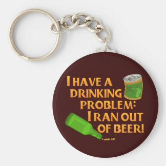 Cerveza de consumición divertida llaveros personalizados