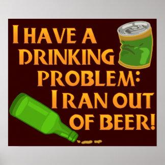 Cerveza de consumición divertida póster