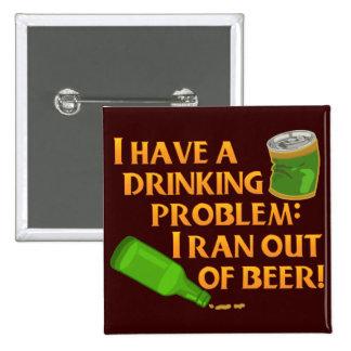 Cerveza de consumición divertida chapa cuadrada 5 cm