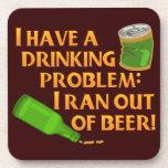 Cerveza de consumición divertida posavaso