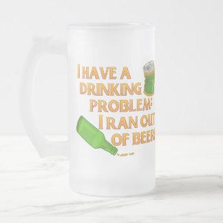 Cerveza de consumición divertida taza de cristal