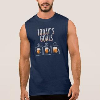 Cerveza de hoy de las metas camiseta sin mangas