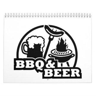 Cerveza de la barbacoa del Bbq Calendarios