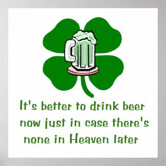 Cerveza de la bebida ahora póster