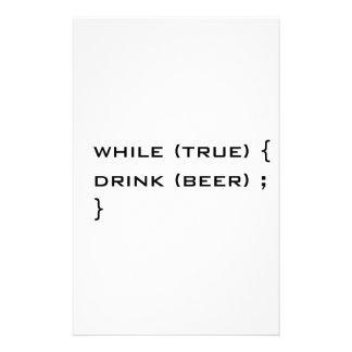 Cerveza de la bebida papelería de diseño