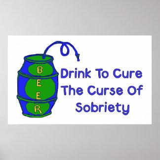 Cerveza de la bebida póster