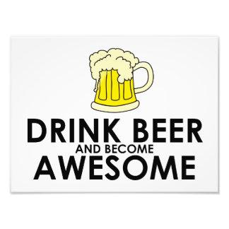 Cerveza de la bebida y llegado a ser impresionante fotografias