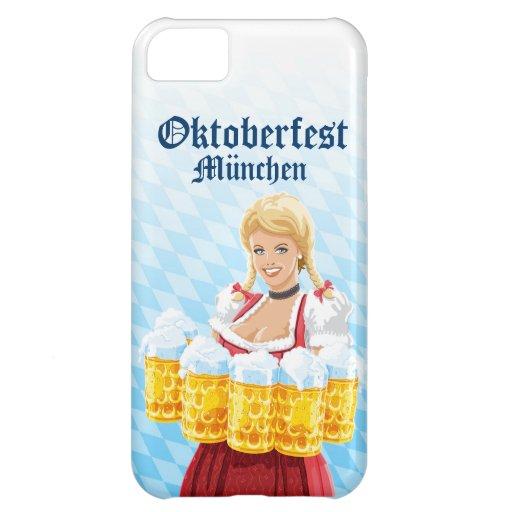 cerveza de la camarera de Oktoberfest del caso del